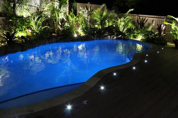 led lighting in pool gold coast